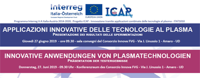 Workshop. INNOVATIVE ANWENDUNGEN VON PLASMATECHNOLOGIEN
